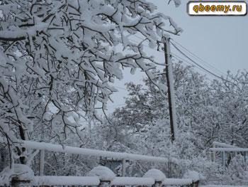 Красивый снег